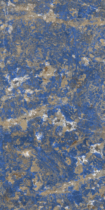 Sodalite Blue design appearances for sintered stone slab surfaces