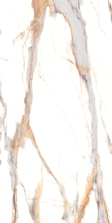 Calacatta Gold design appearances for sintered stone slab surfaces